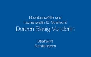 Rechtsanwältin Doreen Blasig–Vonderlin